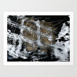 Black Clouds Art Print