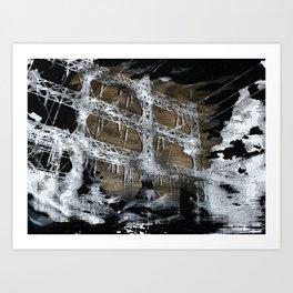 Black Clouds Art Print