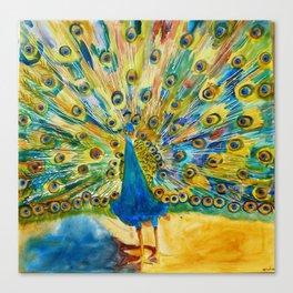 Peacock Prance Canvas Print