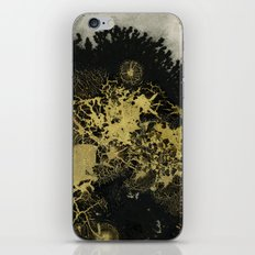 Black and gold iPhone & iPod Skin