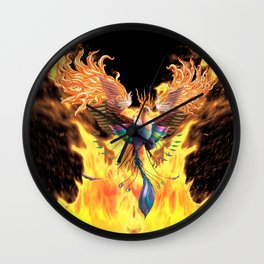 Flames of Life Wall Clock