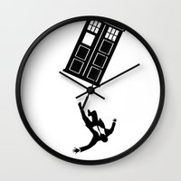 mad men Wall Clocks featuring Doctor Who - Mad Men by bosphorus