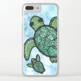 A peaceful swim Clear iPhone Case