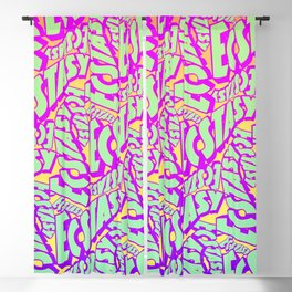 'Ecstacy' 70's Psych Poster Fade Pattern Blackout Curtain
