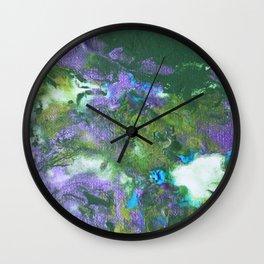 Abstract Wildflower Field Wall Clock