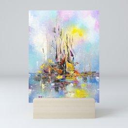 ILLUSIVE BOATS Mini Art Print