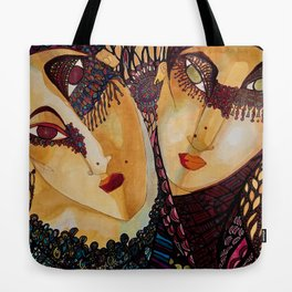 Anonymous couple Tote Bag