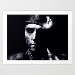 Hommage to Christopher Walken Art Print