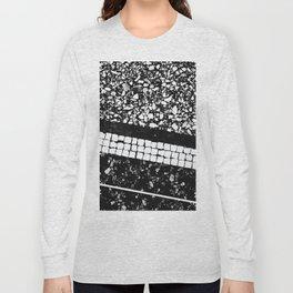 Terrazzo Pattern Black & White #1 #texture #decor #art #society6 Long Sleeve T-shirt