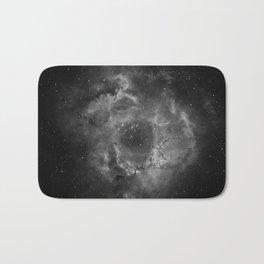 Stars and Space Dust B&W Bath Mat