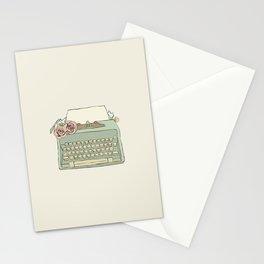 Retro typewriter Stationery Cards