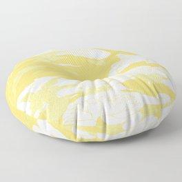 japanese flowers. Yellow Floor Pillow