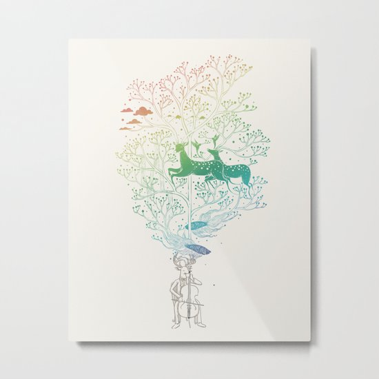 The Cellist Metal Print