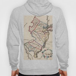 Vintage Map of New Jersey (1819) Hoody