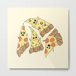 Ghost Pizzas Metal Print