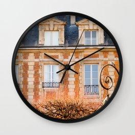 Place des Vosges Paris Wall Clock
