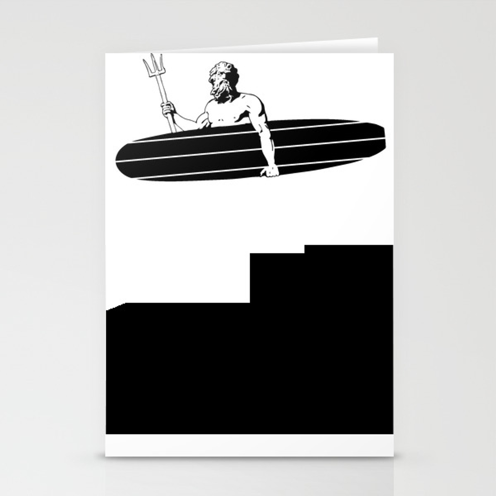 Surf God Stationery Cards by Saltysurfsalad CRD8309865
