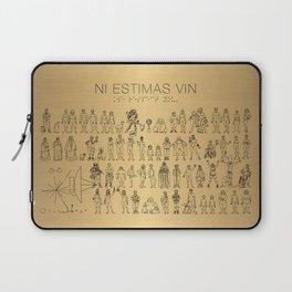 The Postmodern Pioneer Plaque Laptop Sleeve