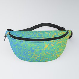Blue Lime Yellow Pixilated Gradient Fanny Pack