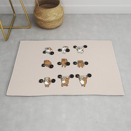 OLYMPIC LIFTING English Bulldog Rug