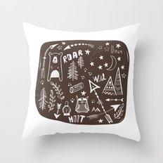 Wild Child Throw Pillow