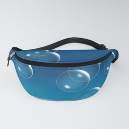 Blue bubbles on the horizon Fanny Pack