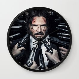 John Wick Keanu Reeves Movie Cast Signed Photo Autograph Reprint Poster Wall Clock