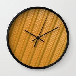 Stripes II - Golden Wall Clock