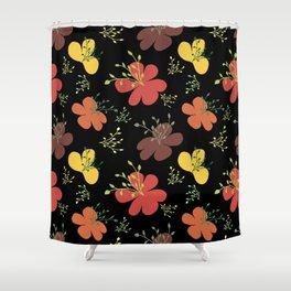 flor fondo negro1 Shower Curtain