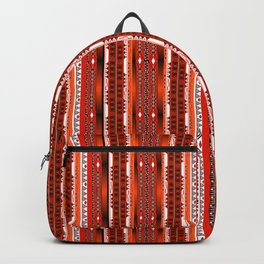 Ethnic stripes. Tribal pattern Indians. Backpack