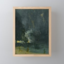 Nocturne in Black and Gold by Whistler, 185 Framed Mini Art Print
