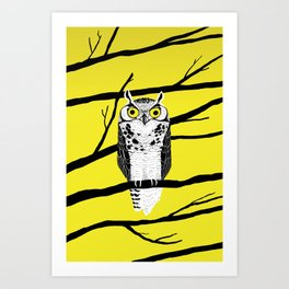 Great Owl Art Print