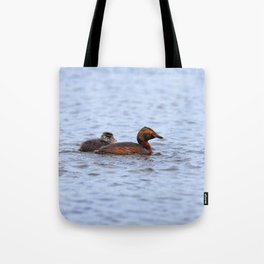 Watercolor Bird, Horned Grebe 07, Lake Myvatn, Iceland Tote Bag