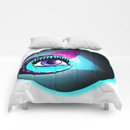 Halftone Eyeball Comforters