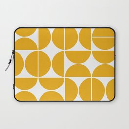 Mid Century Modern Geometric 04 Yellow Laptop Sleeve