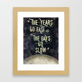 Getting Old Framed Art Print