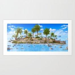 Deserted Island Art Print
