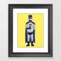 BatHank Framed Art Print