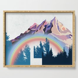 Rainbow Mountains Adventure Serving Tray