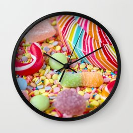 Rainbow Candy Wall Clock