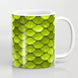 Beautiful Key Lime green mermaid fish Scales Coffee Mug