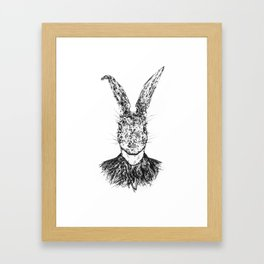 Rabbit man Framed Art Print