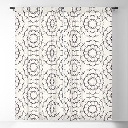 Hand drawn abstract winter snowflakes pattern. Blackout Curtain