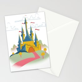 Vintage old castle Stationery Cards