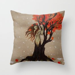 Fall Dryad Throw Pillow