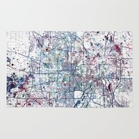 minneapolis Area & Throw Rugs featuring Minneapolis map by MapMapMaps.Watercolors