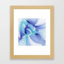 flames on white background -1- Framed Art Print