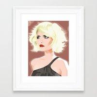 blondie Framed Art Prints featuring Blondie by drawgood