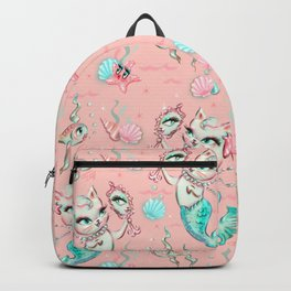 Merkittens with Pearls on blush Backpack