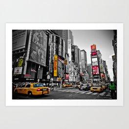 Times Square - Hyper Drop Art Print